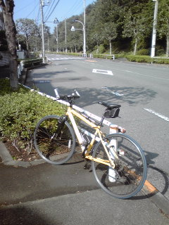 資料撮影会に自転車で