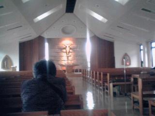二俣川カトリック教会にて