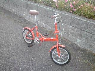 今朝も折り畳み自転車(笑)ハイケーデンス練
