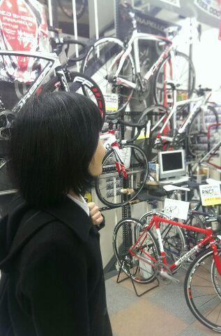 某自転車店にて