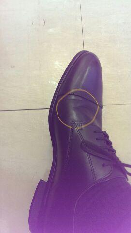 新しい靴でマメできた(^_^;)