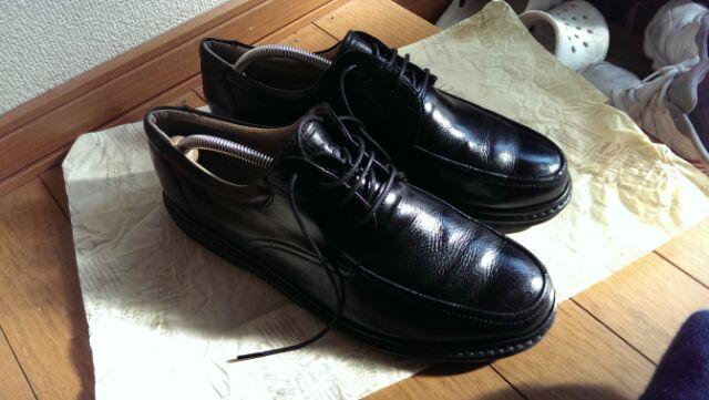 靴磨きの出来映え^^;;;