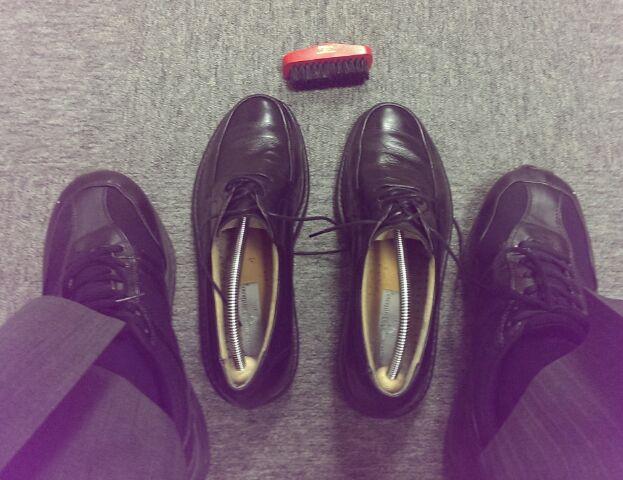 通勤靴に履き替え(^_^)