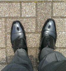 スコッチグレインの靴擦れ、解決(^-^)v