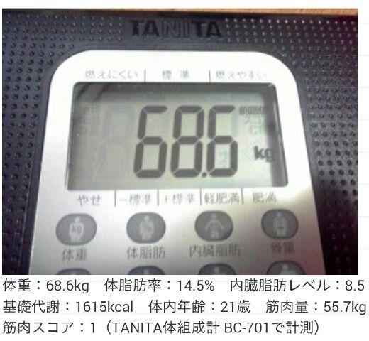 け、今朝の体重…(^_^;)