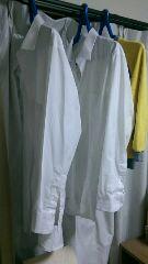長男のワイシャツ