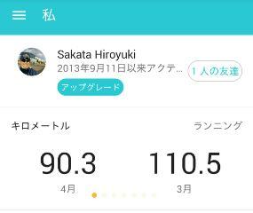 4月ジョグ、90.3km