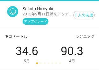 5月ジョグ距離、34.6km