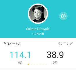6月ジョグ距離、114.1km